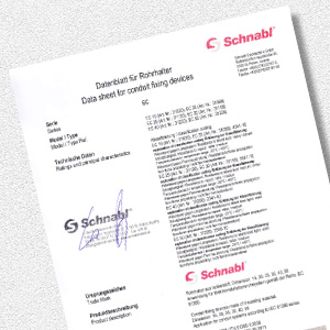 Download Standard data sheet for pipe holder EC