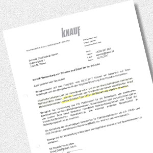 Download certificate for Statement on the C-Fix (Knauf)