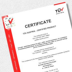 Download certificate for TÜV Austria product certificate